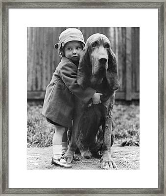 Girl's Best Friend Framed Print by William Vanderson
