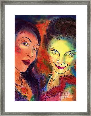 Framed Print featuring the digital art Ladies Night by Angelique Bowman