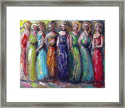 Framed Print featuring the painting Girls Night Out by Bernadette Krupa