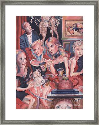 Girls Night Out Framed Print by Lisa Hershman