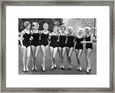 Girls Out Of Water Framed Print by Archive Photos
