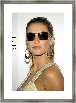 Gisele Bundchen At Arrivals For Vogue Framed Print