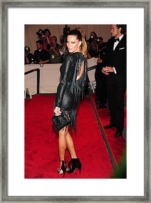 Gisele Bundchen In Alexander Wang Framed Print