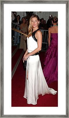 Gisele Bundchen Wearing An Yves Saint Framed Print by Everett