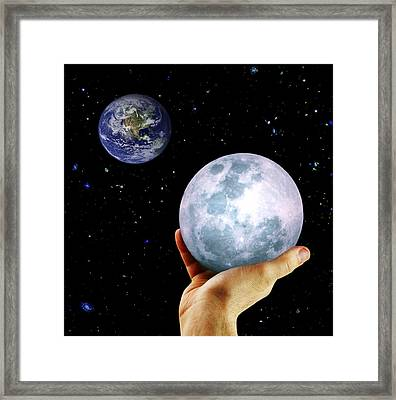 Framed Print featuring the photograph Give Her The Moon by Michele Cornelius