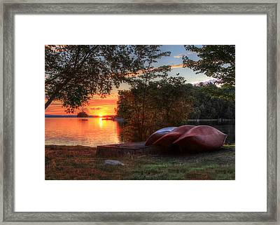 Give Me A Canoe Framed Print by Lori Deiter