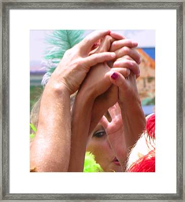 Give Me A Hand Framed Print by FeVa  Fotos