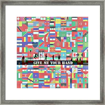 Give Me Your Hand Framed Print by Steve K
