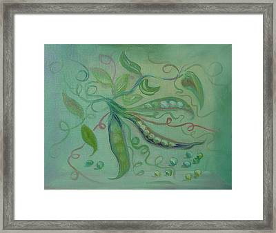 Framed Print featuring the painting Give Peas A Chance by Carol Berning