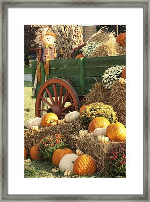 Give Thanks For The Earths Bounty Framed Print by Kathy Clark