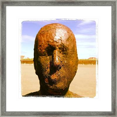 Give Us A Kiss. #kiss #anotherplace Framed Print