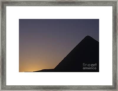 Giza Pyramid At Dusk Framed Print by Adam Crowley