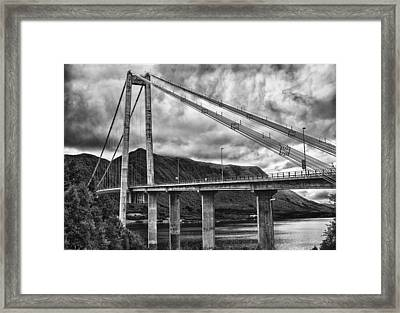 Gjemnessund Bridge Framed Print