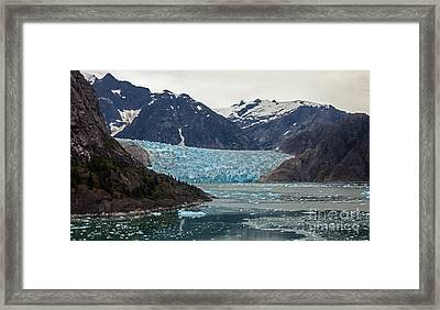 Glacial Bay And Ice Framed Print by Mike Reid