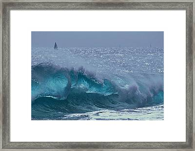 Glacial Blue Framed Print