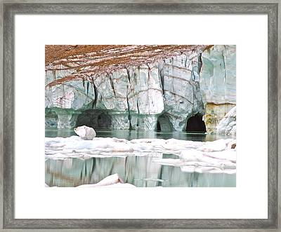 Framed Print featuring the photograph Glacial Cave by Brian Sereda