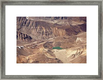 Glacial Lake In Cold Desert Framed Print by My Photography is Combination of Vision, Passion and Creativ