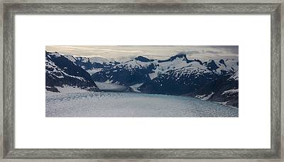 Glacial Panorama Framed Print by Mike Reid