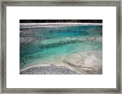 Framed Print featuring the photograph Glacial Pool by Laurel Talabere