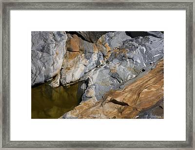 Glacial Pothole Framed Print by Michael Friedman