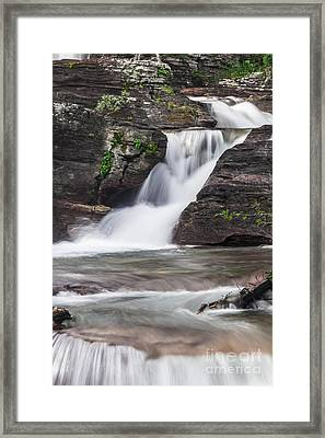 Glacial Waterfalls Framed Print by Scotts Scapes