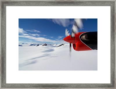 Glacier And Engine Framed Print by Mike Denton