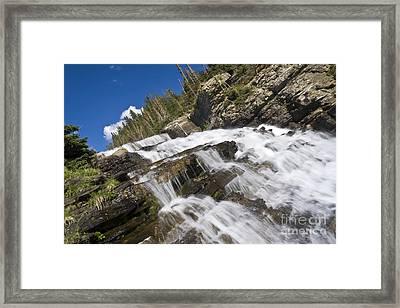 Glacier Falls Framed Print by Scotts Scapes