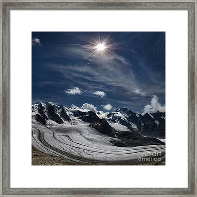 Glacier In Heaven Framed Print by Bruno Santoro