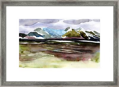 Glacier Near Juneau Framed Print by Mindy Newman