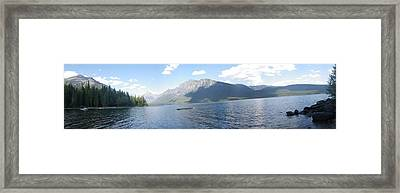 Glacier Park Panorama Framed Print by John Harrison
