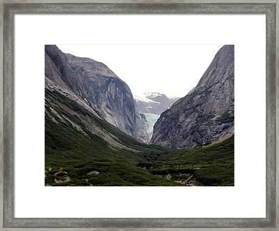 Glacier Pass Framed Print by Mindy Newman