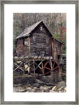 Glade Creek Grist Mill Series II Framed Print by Kathy Jennings