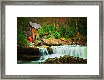 Glade Creek Mill 2 Framed Print by Mary Timman