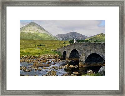 Glamaig And Sligachan Bridge Framed Print