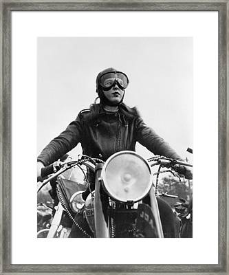 Glamorous Biker Framed Print by Keystone Features