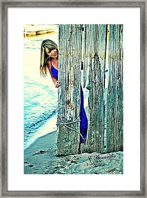 Glamour Peek Framed Print by Charles Benavidez