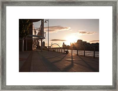 Glasgow Promenade Framed Print by Tom Gowanlock