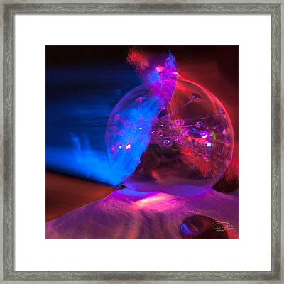 Glass And Light Sculpture 20120615 Framed Print by Brandon Smith