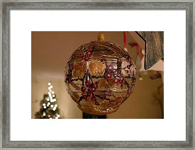 Glass Bauble Framed Print by Richard Reeve
