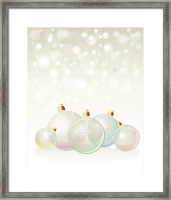 Glass Baubles Pastel Framed Print by Jane Rix