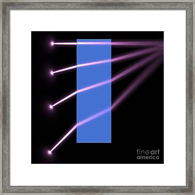 Framed Print featuring the digital art Glass Block 2 by Russell Kightley