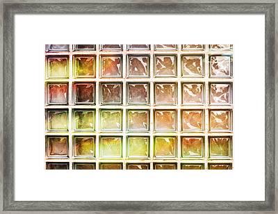 Glass Bricks Framed Print by Tom Gowanlock