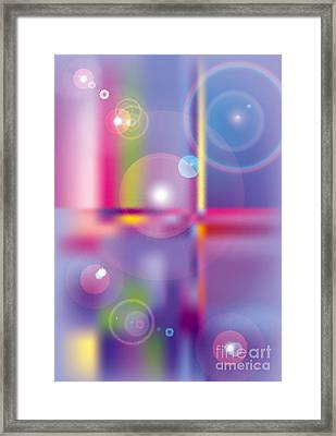 Glass Circles Framed Print by Michelle Bergersen