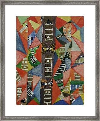 Glass Full Of Guitar Parts Framed Print by Cecelia Taylor-Hunt