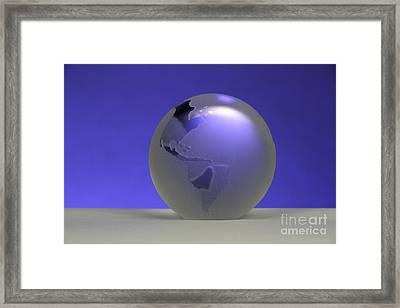 Glass Globe Framed Print by Photo Researchers, Inc.
