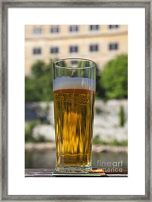 Glass Of Beer Framed Print by David Buffington