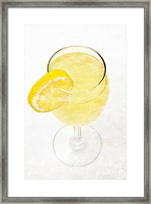 Glass Of Lemonade Framed Print by Andee Design