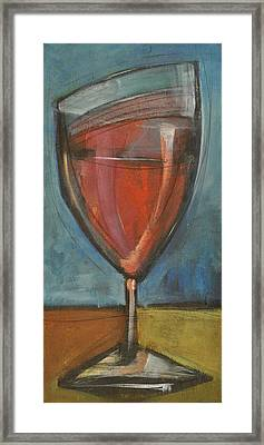 Glass Of Red Framed Print by Tim Nyberg