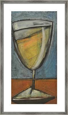 Glass Of White Framed Print by Tim Nyberg