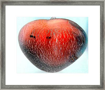 Glass Orb Red Framed Print by Randall Weidner